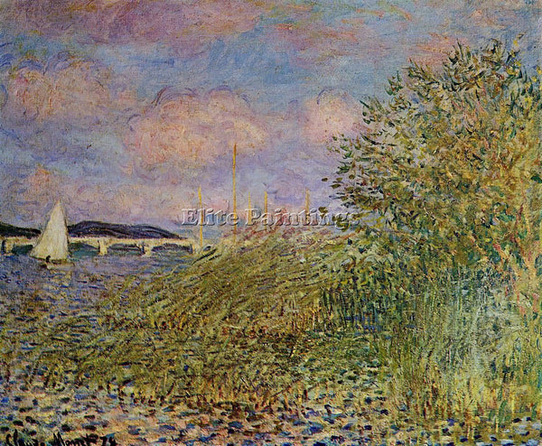 CLAUDE MONET THE SEINE AT ARGENTEUIL 1 ARTIST PAINTING REPRODUCTION HANDMADE OIL