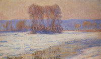 CLAUDE MONET THE SEINE AT BENNECOURT IN WINTER ARTIST PAINTING REPRODUCTION OIL