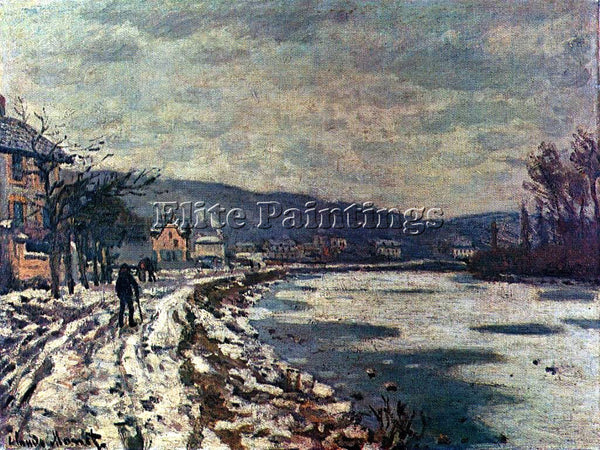 CLAUDE MONET THE SEINE AT BOUGIVAL ARTIST PAINTING REPRODUCTION HANDMADE OIL ART