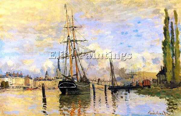 CLAUDE MONET THE SEINE AT ROUEN 1 ARTIST PAINTING REPRODUCTION HANDMADE OIL DECO