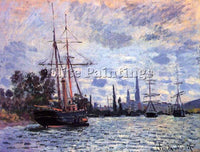 CLAUDE MONET THE SEINE AT ROUEN 2 ARTIST PAINTING REPRODUCTION HANDMADE OIL DECO