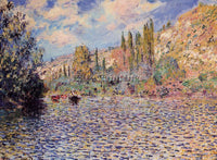 CLAUDE MONET THE SEINE AT VETHEUIL 2 ARTIST PAINTING REPRODUCTION HANDMADE OIL