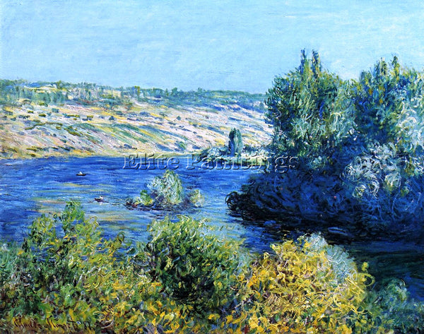 CLAUDE MONET THE SEINE AT VETHEUIL 4 ARTIST PAINTING REPRODUCTION HANDMADE OIL