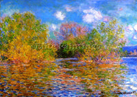 CLAUDE MONET THE SEINE NEAR GIVERNY 2 ARTIST PAINTING REPRODUCTION HANDMADE OIL