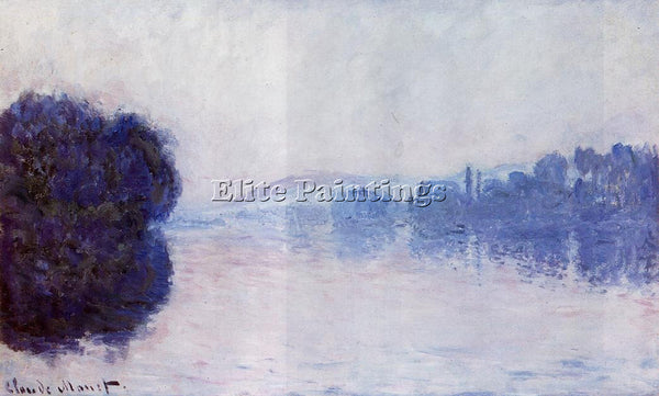 CLAUDE MONET THE SEINE NEAR VERNON ARTIST PAINTING REPRODUCTION HANDMADE OIL ART