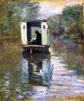 CLAUDE MONET THE STUDIO BOAT 2 ARTIST PAINTING REPRODUCTION HANDMADE OIL CANVAS