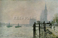 CLAUDE MONET THE THAMES AT WESTMINSTER 1871 ARTIST PAINTING HANDMADE OIL CANVAS