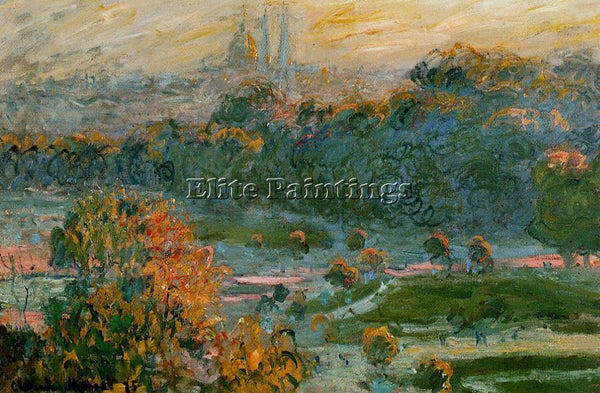 CLAUDE MONET THE TUILERIES STUDY ARTIST PAINTING REPRODUCTION HANDMADE OIL REPRO