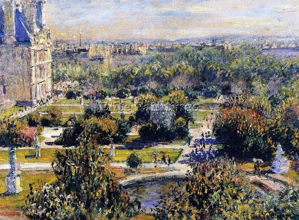 CLAUDE MONET THE TUILERIES ARTIST PAINTING REPRODUCTION HANDMADE OIL CANVAS DECO