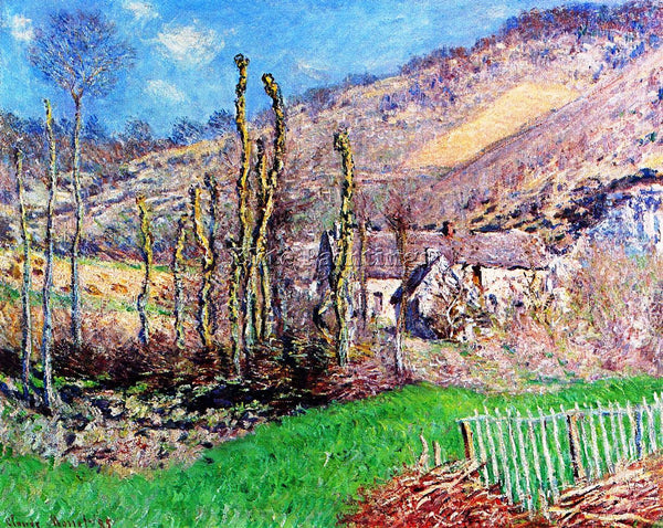 CLAUDE MONET THE VAL DE FALAISE GIVERNY ARTIST PAINTING REPRODUCTION HANDMADE