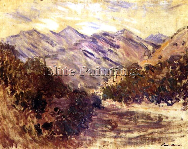 CLAUDE MONET THE VALLEY OF THE NERVIA WITH DOLCEACQUA ARTIST PAINTING HANDMADE