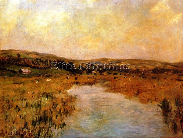 CLAUDE MONET THE VALLEY OF THE SCIE AT POUVILLE ARTIST PAINTING REPRODUCTION OIL