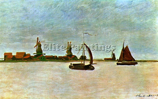 CLAUDE MONET THE VOORZAAN ARTIST PAINTING REPRODUCTION HANDMADE OIL CANVAS REPRO