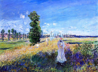 CLAUDE MONET THE WALK ARGENTEUIL ARTIST PAINTING REPRODUCTION HANDMADE OIL REPRO