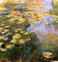 CLAUDE MONET THE WATER LILY POND LEFT SIDE ARTIST PAINTING REPRODUCTION HANDMADE