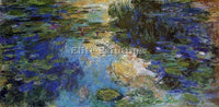 CLAUDE MONET THE WATER LILY POND 6 ARTIST PAINTING REPRODUCTION HANDMADE OIL ART
