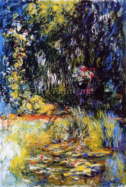 CLAUDE MONET THE WATER LILY POND 8 ARTIST PAINTING REPRODUCTION HANDMADE OIL ART