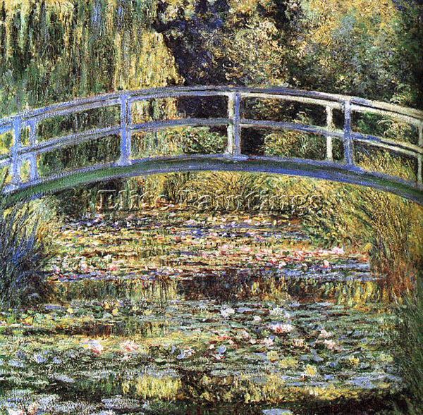 CLAUDE MONET THE WATERLILY POND ARTIST PAINTING REPRODUCTION HANDMADE OIL CANVAS