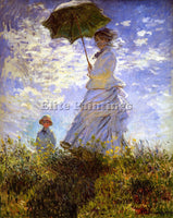 CLAUDE MONET THE WOMAN WITH THE PARASOL ARTIST PAINTING REPRODUCTION HANDMADE