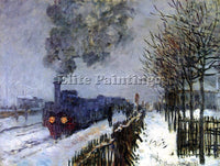 CLAUDE MONET TRAIN IN THE SNOW THE LOCOMOTIVE ARTIST PAINTING REPRODUCTION OIL