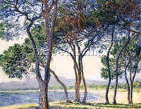 CLAUDE MONET TREES BY THE SEASHORE AT ANTIBES ARTIST PAINTING REPRODUCTION OIL