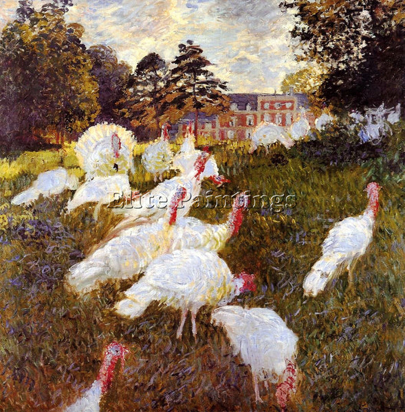 CLAUDE MONET TURKEYS ARTIST PAINTING REPRODUCTION HANDMADE OIL CANVAS REPRO WALL