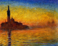CLAUDE MONET TWILIGHT VENICE ARTIST PAINTING REPRODUCTION HANDMADE CANVAS REPRO