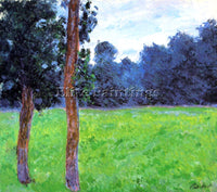 CLAUDE MONET TWO TREES IN A MEADOW ARTIST PAINTING REPRODUCTION HANDMADE OIL ART