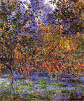 CLAUDE MONET UNDER THE LEMON TREES ARTIST PAINTING REPRODUCTION HANDMADE OIL ART