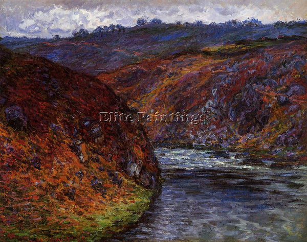 CLAUDE MONET VALLEY OF THE CREUSE GREY DAY ARTIST PAINTING REPRODUCTION HANDMADE