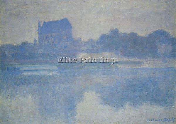 CLAUDE MONET VERNON CHURCH IN THE FOG ARTIST PAINTING REPRODUCTION HANDMADE OIL