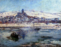 CLAUDE MONET VETHEUIL IN WINTER ARTIST PAINTING REPRODUCTION HANDMADE OIL CANVAS