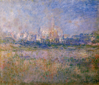 CLAUDE MONET VETHEUIL IN THE FOG ARTIST PAINTING REPRODUCTION HANDMADE OIL REPRO