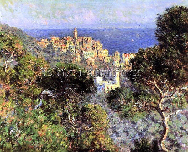 CLAUDE MONET VIEW OF BORDIGHERA ARTIST PAINTING REPRODUCTION HANDMADE OIL CANVAS