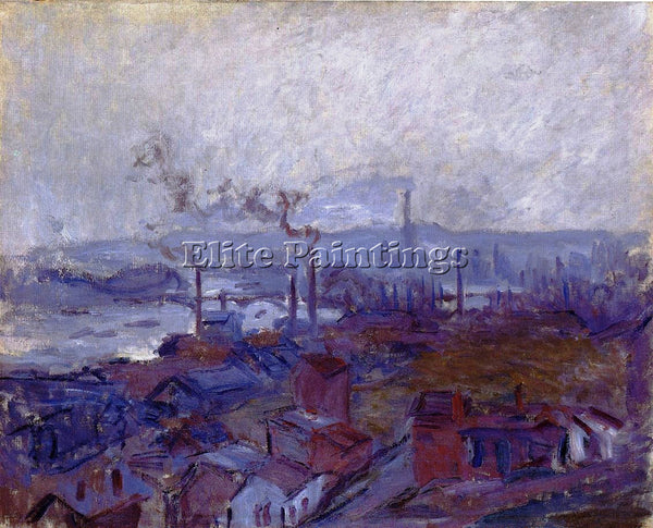 CLAUDE MONET VIEW OF ROUEN FROM THE COTE SAINTE CATHERINE ARTIST PAINTING CANVAS