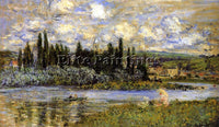 CLAUDE MONET VIEW OF VETHEUIL ARTIST PAINTING REPRODUCTION HANDMADE CANVAS REPRO