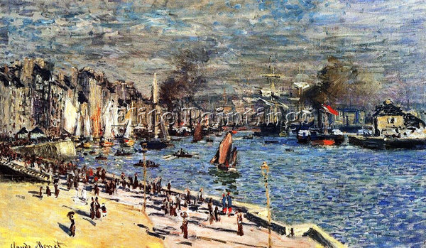 CLAUDE MONET VIEW OF THE OLD OUTER HARBOR AT LE HAVRE ARTIST PAINTING HANDMADE