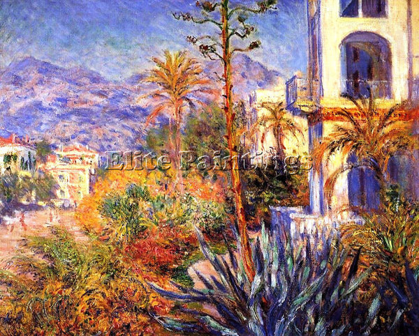 CLAUDE MONET VILLAS AT BORDIGHERA 2 ARTIST PAINTING REPRODUCTION HANDMADE OIL