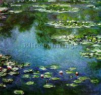 CLAUDE MONET WATER LILIES 1906 ARTIST PAINTING REPRODUCTION HANDMADE OIL CANVAS