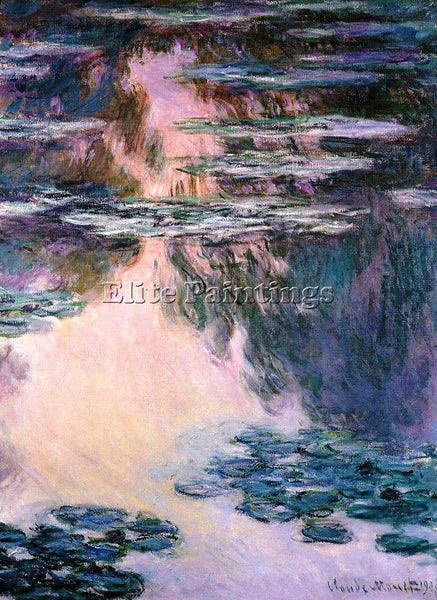CLAUDE MONET WATER LILIES 12 ARTIST PAINTING REPRODUCTION HANDMADE CANVAS REPRO