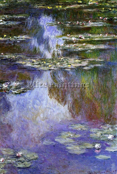 CLAUDE MONET WATER LILIES 15 ARTIST PAINTING REPRODUCTION HANDMADE CANVAS REPRO