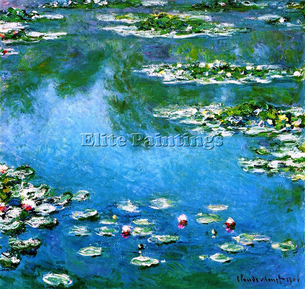 CLAUDE MONET WATER LILIES 22 ARTIST PAINTING REPRODUCTION HANDMADE CANVAS REPRO