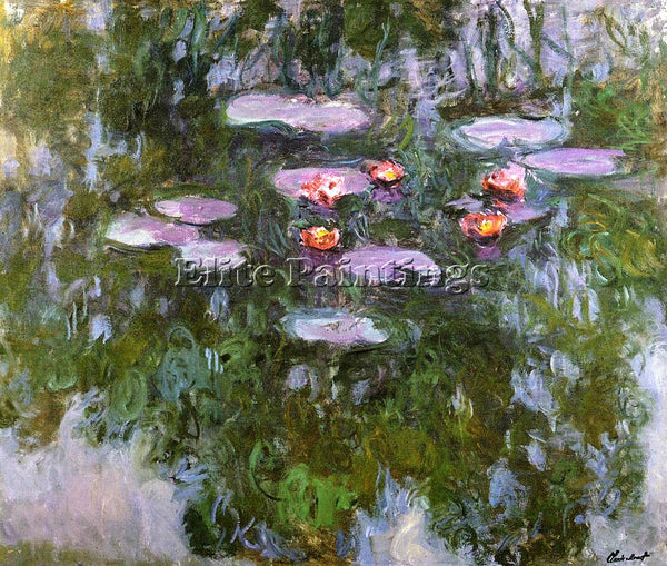 CLAUDE MONET WATER LILIES 23 ARTIST PAINTING REPRODUCTION HANDMADE CANVAS REPRO