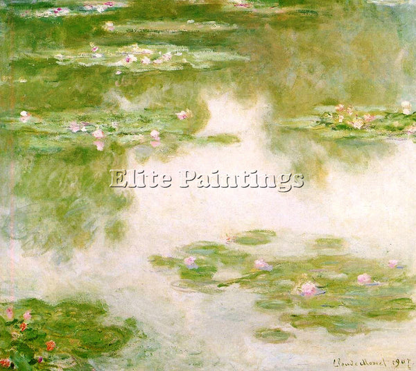 CLAUDE MONET WATER LILIES 25 ARTIST PAINTING REPRODUCTION HANDMADE CANVAS REPRO