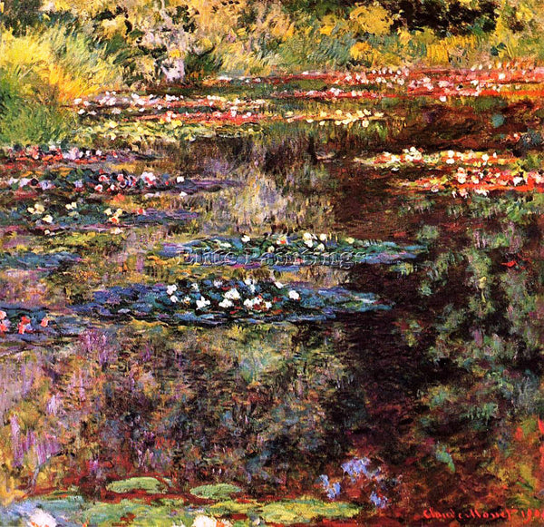 CLAUDE MONET WATER LILIES 28 ARTIST PAINTING REPRODUCTION HANDMADE CANVAS REPRO