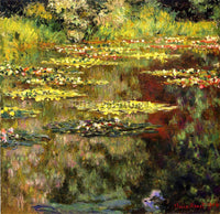 CLAUDE MONET WATER LILIES 29 ARTIST PAINTING REPRODUCTION HANDMADE CANVAS REPRO