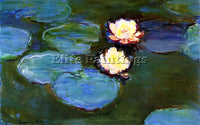 CLAUDE MONET WATER LILIES 2 ARTIST PAINTING REPRODUCTION HANDMADE OIL CANVAS ART