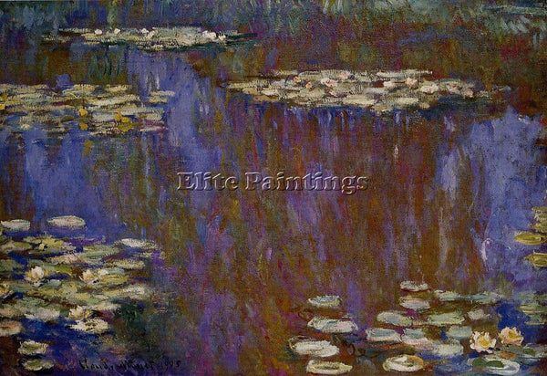 CLAUDE MONET WATER LILIES 30 ARTIST PAINTING REPRODUCTION HANDMADE CANVAS REPRO