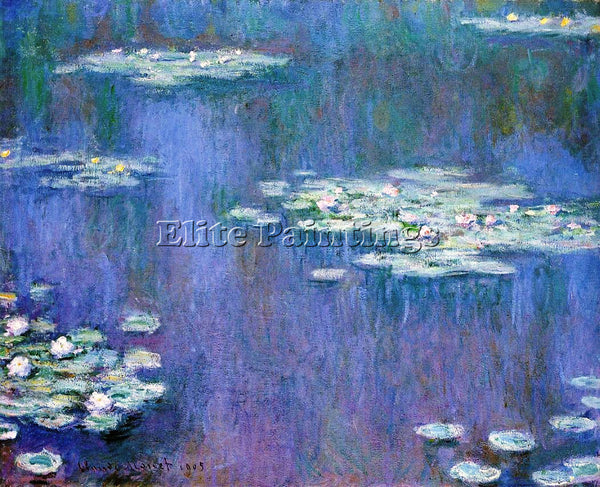CLAUDE MONET WATER LILIES 31 ARTIST PAINTING REPRODUCTION HANDMADE CANVAS REPRO