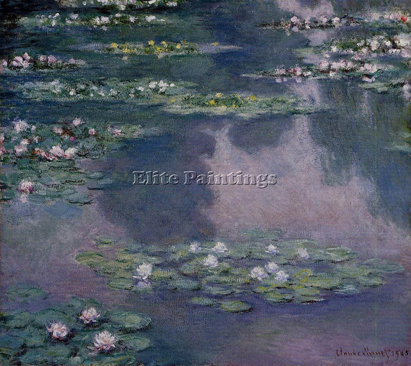 CLAUDE MONET WATER LILIES 36 ARTIST PAINTING REPRODUCTION HANDMADE CANVAS REPRO